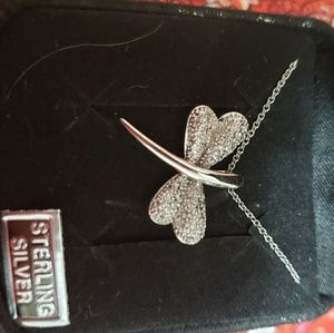 Jewelry - Dragonfly sterling silver necklace
